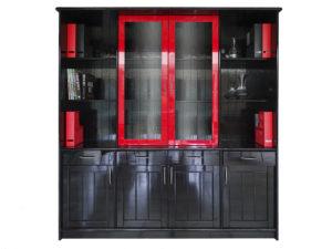 kast-keuken-zwart-rood